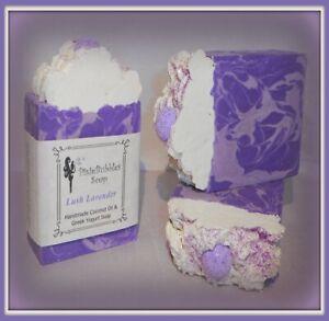 Handmade Soap PixieBubbles LUSH LAVENDER CEDAR Coconut Oil & Greek Yogurt Shea