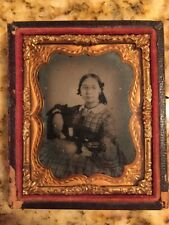 Antique Photograph Tintype Ambrotype or Daguerreotype of a Girl