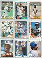Eddie Murray, Baltimore Orioles 1979 Topps #640 ~ Eddie Murray Lot of 9 Cards
