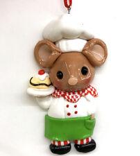 Boy Chef Mouse Ice Cream Sundae Christmas Ornament Candy Shop Fake Food Mice