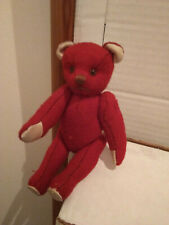 Teddybär alt rot ca. 13 cm gebraucht
