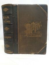 1879 MAN by G.D Lind History of the Human Race Half Leather Anthropology Illustr