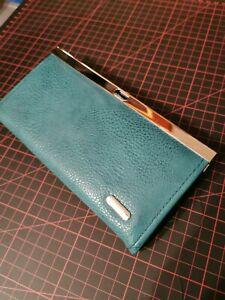Donna clip Börse Damen Geldbörse Portemonnaie  Leder 19 x 10 cm super Zustand