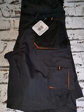 Emerton Work Shorts Black / Orange - 34 inch waist