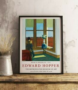Edward Hopper Poster, Edward Hopper Print, Room in Brooklyn, Wall Art Decor