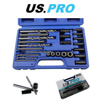 US PRO 25PC Screw Extractor Drill & Guide Set 2632