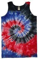 TIE DYE VEST Tank Top Hipster Fashion Tye Die T shirt Festival Grunge Rainbow