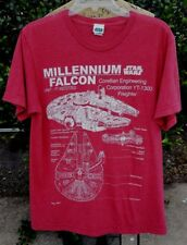 Star Wars Size Medium Red Heathered Millinnium Falcon Graphic Tee Shirt