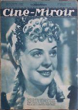 Cine-Miroir - ALICE FAYE cover  - April 1, 1938 - French Movie Magazine