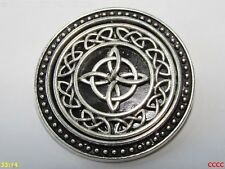 steampunk brooch badge pin silver magic witch's knot charm wiccan pagan celtic