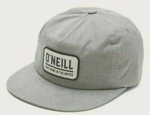 O'Neill Bayside Uomo 100% Cotone Regolabile Snapback Cappello Luce Salvia Nuovo