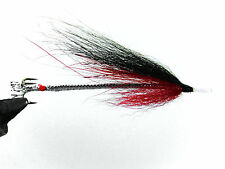 3 x red and black snake flies for sea trout or salmon