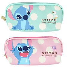 Disney Stitch Judy Nick PU Faux Leather Pencil Case Pen Bag Lilo&Stitch Zootopia