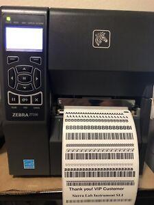 Zebra ZT230 Industrial Label Printer USB Serial New Cosmetic Tested 300dpi