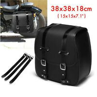 Leather Saddlebags Motorcycle Storage Bag Pannier Saddle Bags Left Side Tool Box