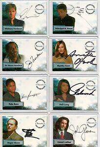 Smallville Autograph Pieceworks & Wardrobe Card Selection NM Inkworks Cryptozoic