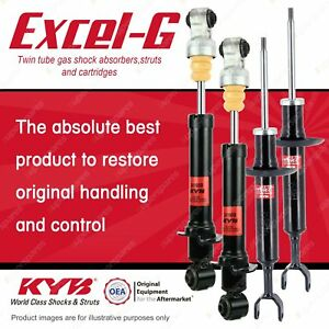 Front + Rear KYB EXCEL-G Shock Absorbers for AUDI A4 B5 Quattro Avant FWD AWD