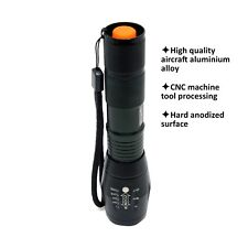 3 Modes Zoomable Rechargeable Cree Q5 LED Flashlight Torch 103Q5 Medium Black