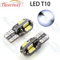 2x T10 501 W5W CAR SIDE LIGHT BULBS ERROR FREE CANBUS COB LED XENON HID WHITE