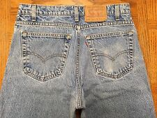 LEVIS 550 VINTAGE USA RED TAB STONE WASHED JEANS SZ 33 x 32 Tag 33 x 31 BEST Z52