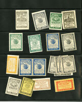 US Stamps Revenue Lot of 20x Stamps Georgia Vintage 1955