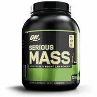 Optimum Nutrition Serious Mass Whey Protein Weight Gainer Chocolate 6 Pound Tax0