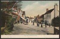 Hampshire Milford-on-Sea. Folk in the High Street. F.G.O. Stuart Postcard #1218