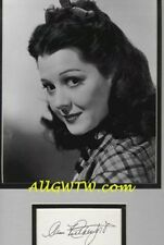 Ann Rutherford Careen O'Hara Gone With the Wind Autograph Cut and Photo