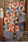 Star Spangled Pinwheels Quilt Pattern Pieced JS
