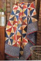 Star Spangled Pinwheels Quilt Pattern Pieced JS