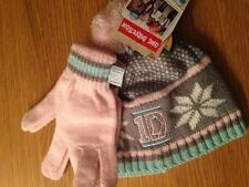 Bnwt 1D One Direction Rose Gris Fairisle hat & gants set4-8 ans