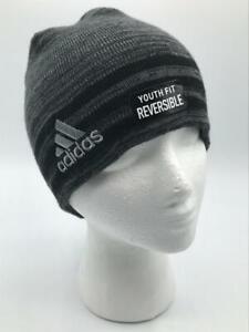 adidas Youth Kids-Boy's/Girl's Eclipse Reversible II Beanie, Black/Grey  1Size