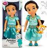 "Disney Store 16"" Aladdin Jasmine Rajah Animators Collection Toddler Doll Figure"