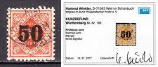 Altdeutschland Württemberg Dienstmarke Mi.188 gestempelt geprüft Kurzbefund BPP