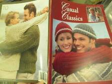 Leisure Arts Casual Classics Knitting Book-10 Adult Designs Sizes Sm-2XL Patons