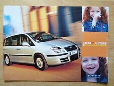 FIAT ULYSEE orig 2002 UK Mkt sales brochure