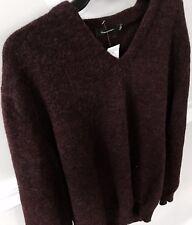 NEW $775 Ermenegildo Zegna Burgundy V Neck Men's Sweater-SIZE XXL-Made In Italy