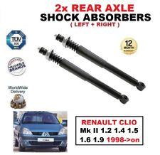 2x Amortiguadores traseros SET para Renault Clio Mk II 1.2 1.4 1.5 1.6 1.9 1998-