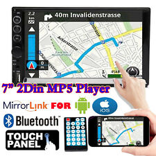 """2 Din 7"""" Touch Screen FM Bluetooth Radio Audio Stereo Car Video Mirrors For GPS"""