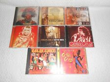 8 USED CELIA CRUZ  CD's LOT ( 106 TRACKS ) tested