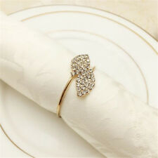 Gold/Silver Rhinestone Mesh Napkin Ring Holder For Home Table Decoration G