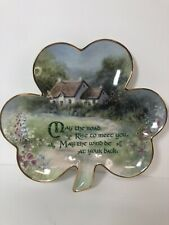Franklin Mint Hilary Scoffield Irish Blessing Shamrock Plate no. Ha3937