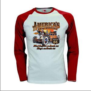 Kustom Garage Vintage Auto Hot Rod Baseball Longsleeve T-shirt 1007-LS