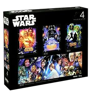 Star Wars Jigsaw Puzzle Collector's Edition 1400 Pieces,  4-in-1 Multipack,  NEW
