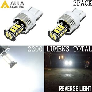 Alla Lighting 7440 30-LED Back Up Light Bulbs Reverse Backup Lamps,Xenon White