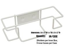 10 x Wire Wall Mount universal Glove Dispenser Box Holder - White