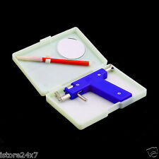 Professional Steel Ear Nose Navel Body Piercing Gun Shots Kit Set, 96pcs Studs.