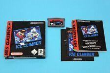 NINTENDO GBA Game Boy Advance NES Classics: ICE CLIMBER-complètement dans neuf dans sa boîte