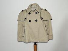 Juicy Couture Short Cotton Twill Khaki Skylar Cape NWT sz M $328