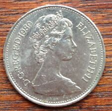 1980 UK British 5 Five New Pence Collectible Coin